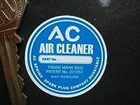 AC Air Cleaner Circular Sticker ステッカー シール デカール 40mm [並行輸入品]