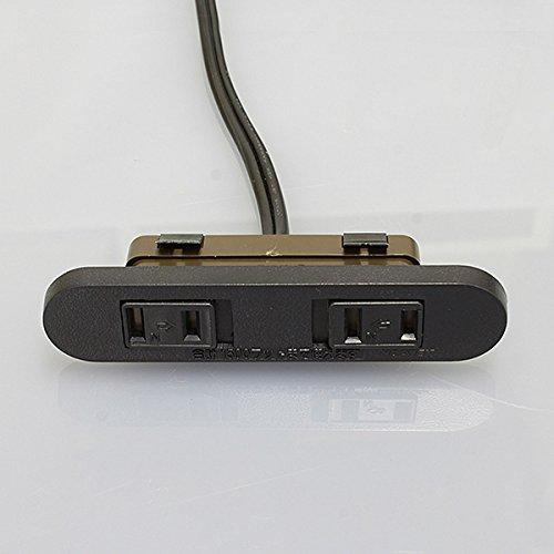 ノア 家具用コンセント(什器用) 2ヶ口スライドコンセント 黒 VFFコード2m ワンタッチ式 1500Wまで NC-1522黒