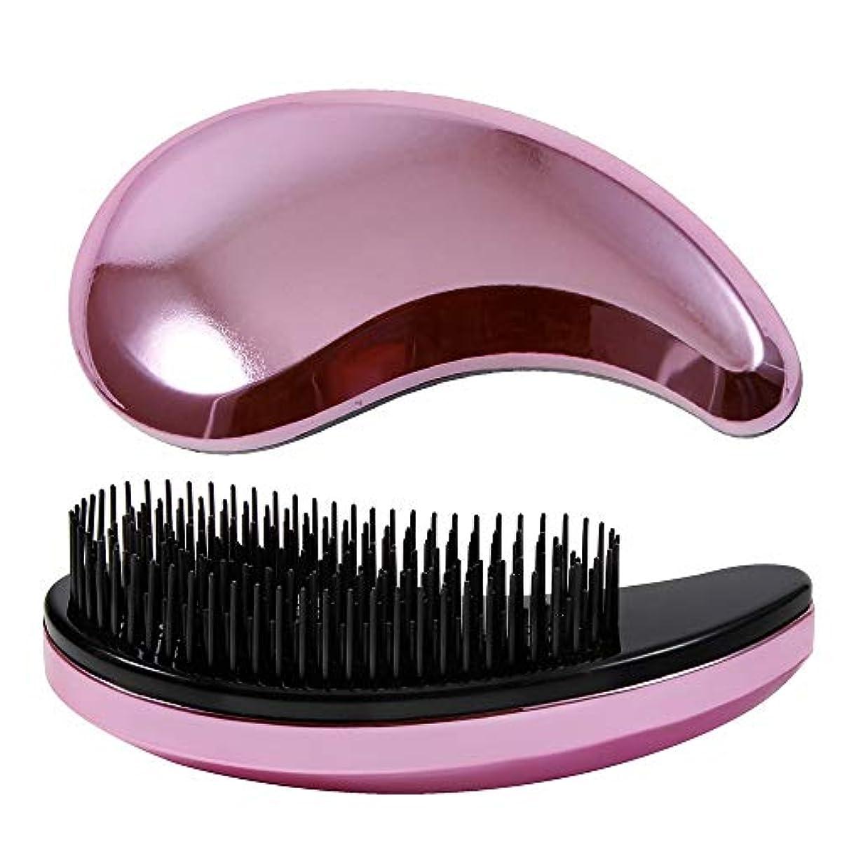 極貧灰消毒剤女の子および女性毛の櫛またはブラシのプラスチック毛の櫛の小さい毛のための毛の櫛角のティーザーのブラシ モデリングツール (Color : ピンク)
