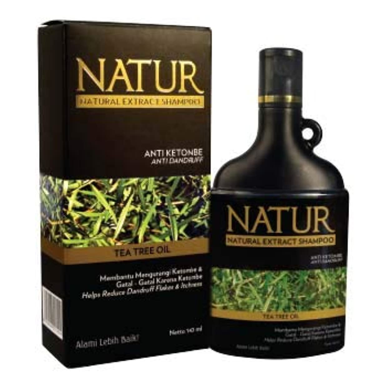 最悪フリース州NATUR ナトゥール 天然植物エキス配合 ハーバルシャンプー 140ml Tea tree oil ティートゥリーオイル [海外直商品]