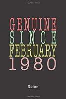 Genuine Since February 1980: Notebook