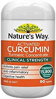 Natures Way Activated Curcumin Turmeric Concentrate Clinical Strength Tablets, 90 count
