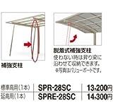 【宅配専用】 四国化成 バリューポートR用脱着式補強支柱 標準高用(1本入) SPR-28  ブロンズ