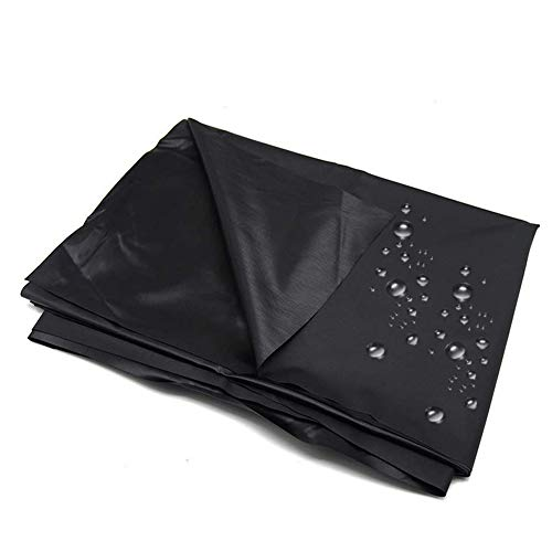 TaRiss's ベットシーツ ベットカバー セックスゲーム ピクニック シート 多用途 PVC 防水 ブラック 1.5mx2.2m ミニケースと日本語カタログ付き