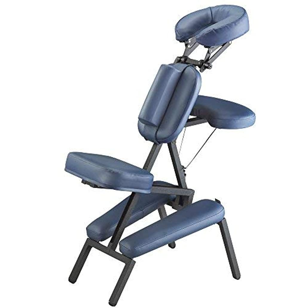 廃棄不規則性便利Master Massage Professional Portable Massage Chair in Blue [並行輸入品]