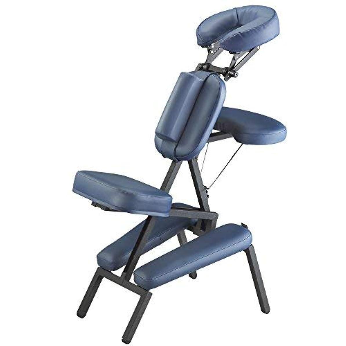 鮫ダイジェスト水平Master Massage Professional Portable Massage Chair in Blue [並行輸入品]