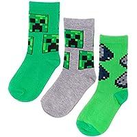 Vanilla Underground Minecraft Assorted 3 Pack Boy's Socks