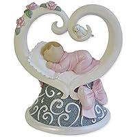 Gund Baby Legacy of Love Figurine, Pink, 3.875 by GUND
