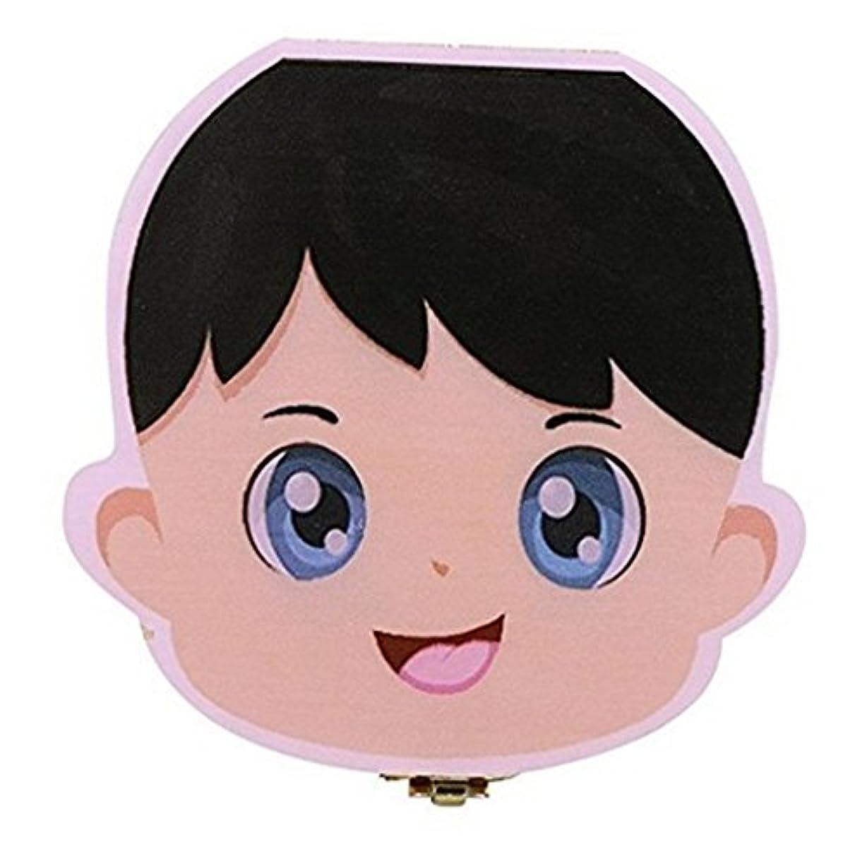 見物人自宅で今美しい赤ん坊の歯は箱のオルガナイザー、木の子供のミルクの歯を救うか、またはへそコードまたは産毛の記憶箱のオルガナイザー、、英語、赤ん坊の男の子か少女のために,Boy