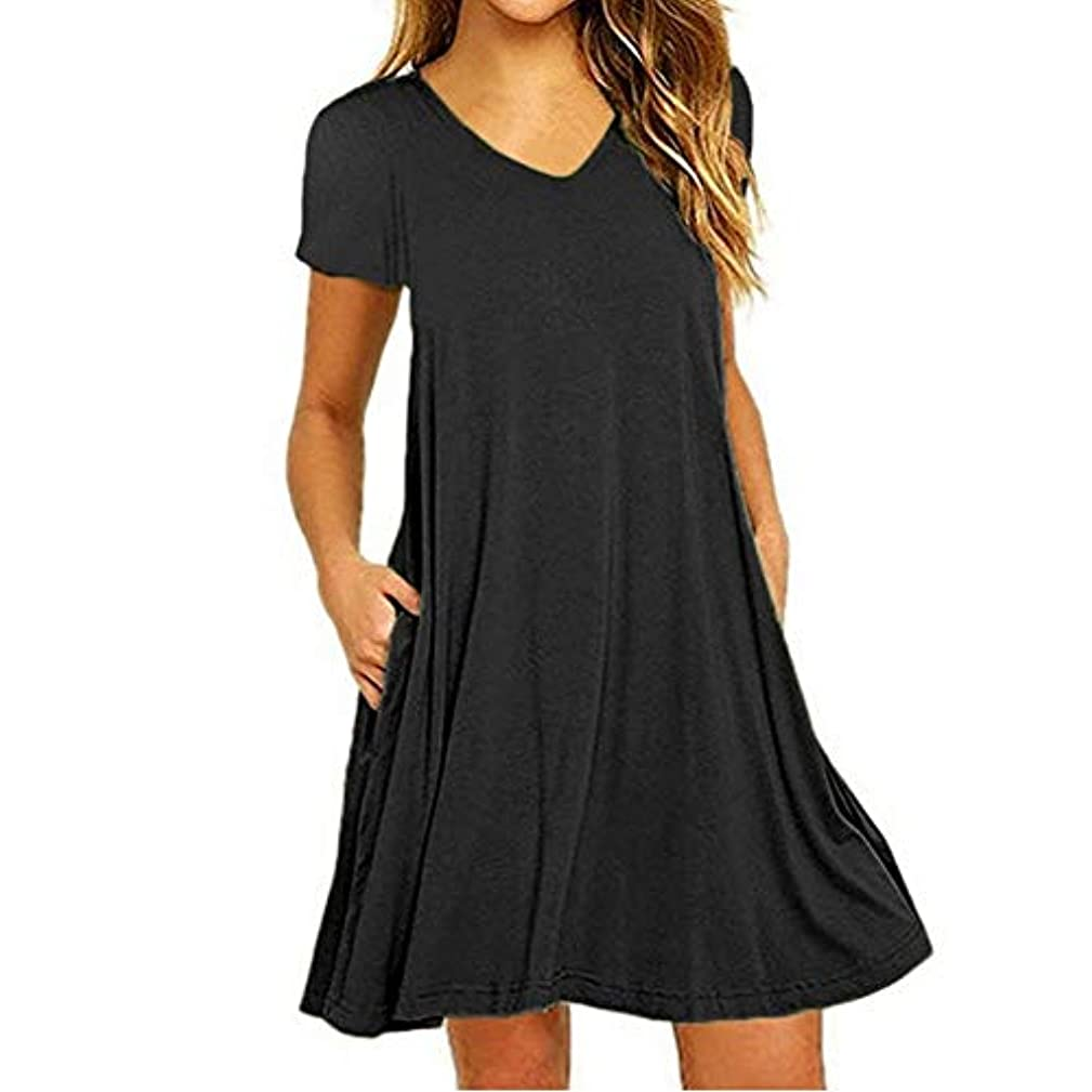 反毒収益ふりをするMIFAN の女性のドレスカジュアルな不規則なドレスルースサマービーチTシャツドレス