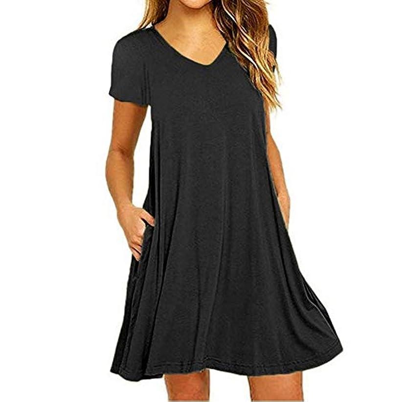 テレックス祈る葉巻MIFAN の女性のドレスカジュアルな不規則なドレスルースサマービーチTシャツドレス