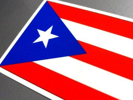 わーるどくらふと プエルトリコ国旗ステッカー SSサイズ 3.3×5cm 屋外耐候耐水シール