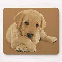 ラブラドールの子犬-マウスパッド敷き おしゃれ かわいい 滑り止め 動物 可愛い マット パット オシャレ(20x25cm)