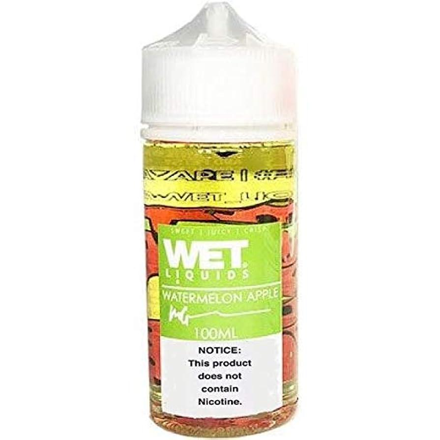展開する乱雑な豊富大人気 WET LIQUIDS VAPE 電子タバコ リキッド USA産 VapeHub.JPオリジナルセット (WATERMELON APPLE, 100ml)