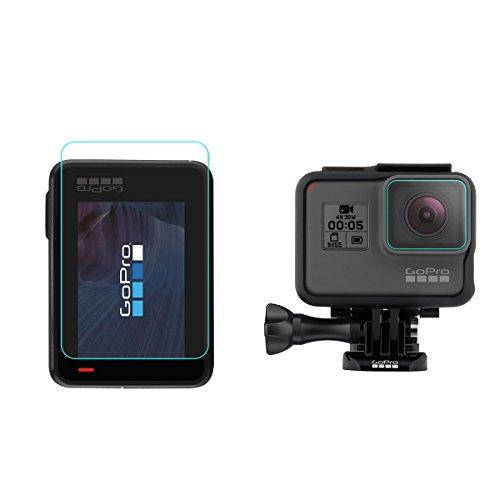 【前後2セット】TopACE GoPro Hero5 Black / GoPro Hero6 Black 強化ガラスフィルム 硬度9H 超薄0.33mm 耐衝撃 撥油性 超耐久 耐指紋 飛散防止処理保護フィルム