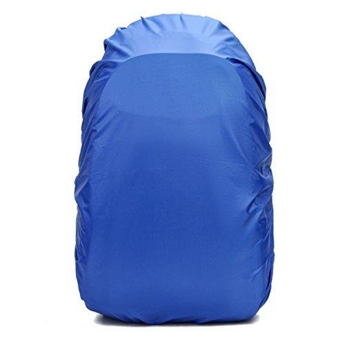 Frelaxy リュックカバー レインカバー 8色 5サイズ(15L -90L) 雨よけ ザックカバー 2倍以上の防水性 四つの防水設計 落下防止のクロスバックル 収納袋付き (L, ブルー)