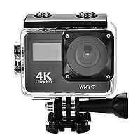 防水スポーツアクションカメラ 4K WiFi 2.0インチ ダイビング 30M Ultra 140 調節可能な広角レンズ LCDディスプレイ リモコンアクセサリー付き