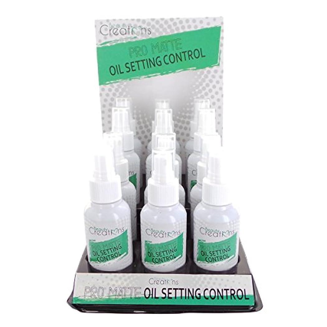 クランプオペレーター宿題をするBEAUTY CREATIONS Pro Matte Oil Control Setting Spray Display Set, 12 Pieces (並行輸入品)