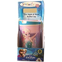 Frozen Fever Snackeez - Pink Cup with Blue Rim by Snackeez