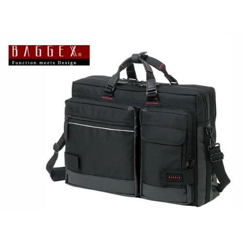 バジェックス BAGGEX 3WAY ビジネスバッグ メンズ 23-5515-10 ブラック バッグ ビジネスバッグ [並行輸入品]