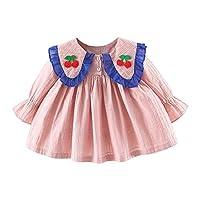 ベビー服 子供 Mimoonkaka 女の子 ドレス 長袖 ワンピース 秋 可愛い リボン スカート チュチュドレス プリンセスドレス プレゼント 0-3歳 出産祝い 赤ちゃん 新生児 服