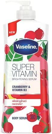 Vaseline Superfood Vitamin Cranberry Body Serum 380ml, 380 milliliters