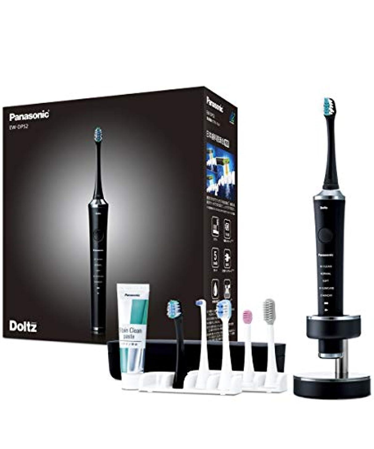 アクセントブラストピカリングパナソニック 電動歯ブラシ ドルツ 黒 EW-DP52-K