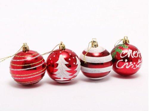 Christmas Trees新しいクリスマス6cm /クリスマスデコレーションボールパーティー装飾クリスマスツリー吊り下げ装飾、クリスマス装飾アウトドア 6 cm パープル #83
