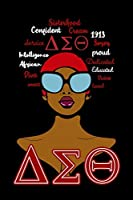 1913 Soror Proud Dedicated Educated Divine Loved Smart Diva African Intelligence Service Confident Sisterhood Cream: Delta Sigma Theta Blank Lined 6x9 110 Pages Journal, I Am The Delta Soror Notebook Gift