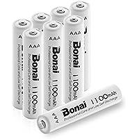 Bonai 単4形 充電池 充電式ニッケル水素電池 8個パック PSE/CEマーキング取得 UL認証済み(高容量1100mAh 約1200回使用可能)