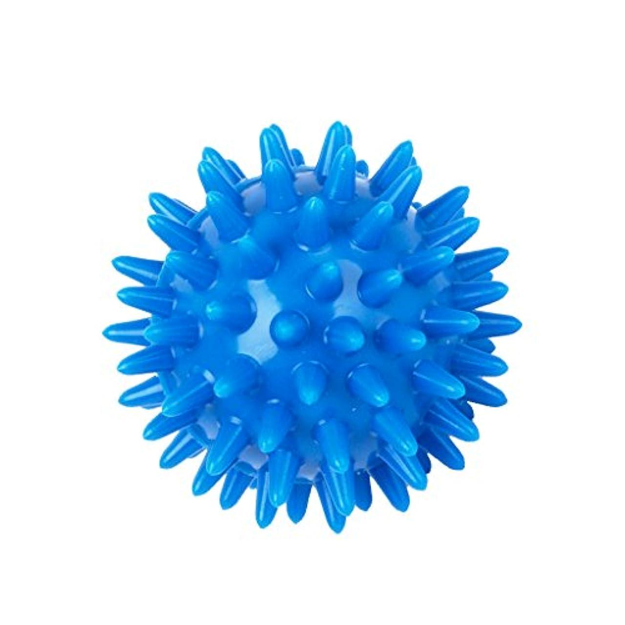 脱獄ビデオ薬用PVC製 足用マッサージボール マッサージボール 筋肉緊張和らげ 血液循環促進 5.5センチメートル ブルー