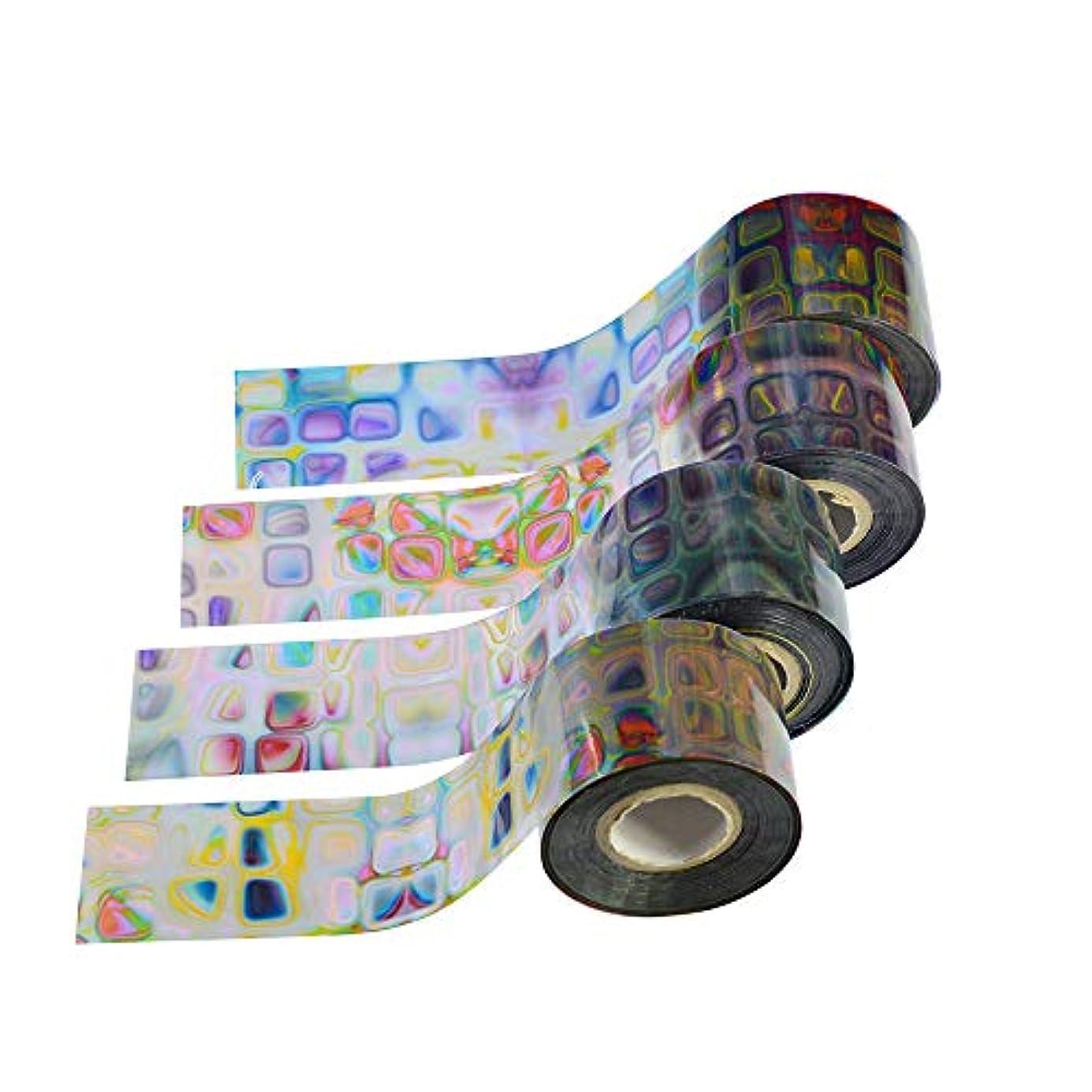 悪魔フック教育SUKTI&XIAO ネイルステッカー 16ロール迷路グラデーション星空スカイホイルネイルアート転写ステッカーデカールラップマニキュア装飾diy接着剤