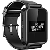 iCasso ボイスレコーダー 時計型 8GB ICレコーダー 腕時計 581時間録音保存可能 MP3プレーヤー 計歩数 イヤホン付き 1年保証付き