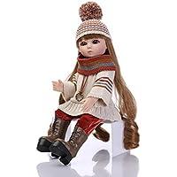 ハンドメイドセーターアクションフィギュアボールジョイント人形BathベビードレスUp Wig人形