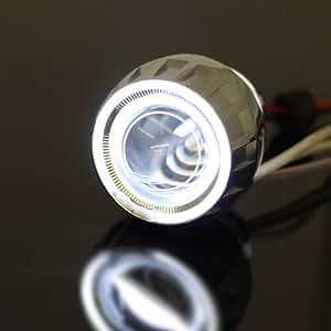 CCFL イカリング HID プロジェクター クリスタルアイ 35w 6000k バイキセノン  H4 H7 HB バイク 車 ヘッドライト フォグランプ 等に
