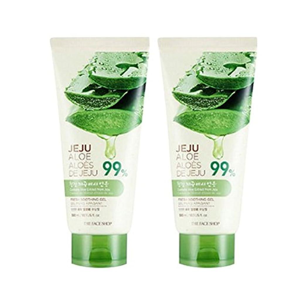 偏見ペグ玉ねぎザ?フェイスショップ済州アロエ新鮮なスーディングジェル300ml x 2本セット韓国コスメ、The Face Shop Jeju Aloe Fresh Soothing Gel 300ml x 2ea Set Korean...