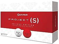Taylor Made Project (S) ホリデーエディション ゴルフボール #1-#4 6ボールパック レッド/ホワイト