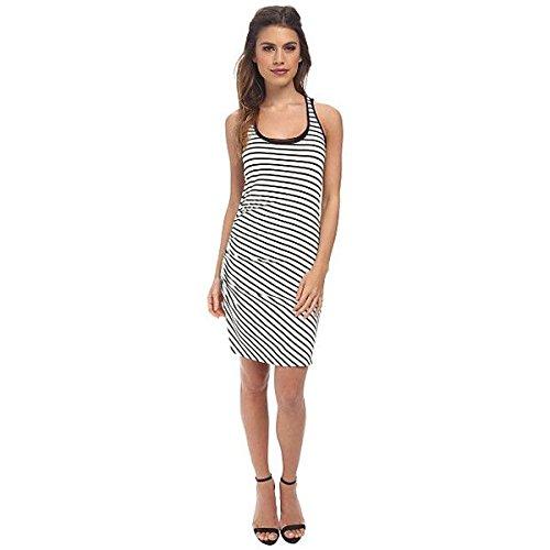 (スリードッツ) Three Dots レディース ドレス パーティドレス Stripe Shirred Tank Dress 並行輸入品