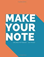"""Notebook: Large 8.5"""" x 11"""" Inches Unlined Notebook - 100 Numbered Pages - Orange Matte Laminated Softback Cover"""