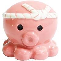 オクトパス君 TACORON タコロン 陶器 置物 小さい グッズ (ピンク/恋愛)