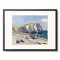アンリ・マティス Henri Matisse 「Falaises d'Aval, Fishermen, Etretat. 1920」 額装アート作品