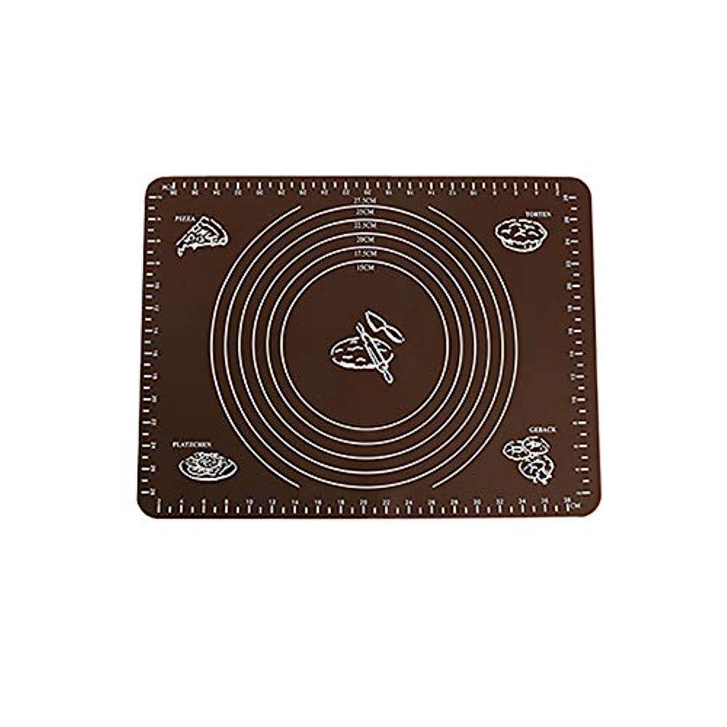 ボリュームツイン組Refaxi シリコーン生地ローリング混練パッド高温ケーキペストリーベーキングパッド(コーヒー)