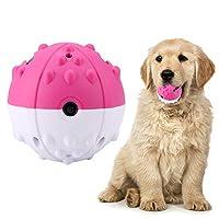 dooti犬噛むボール 歯ぎしり 電気振動玩具 電気ペット玩具 音声が出る ペットボール 歯磨き 運動促進 知育玩具(レッド)