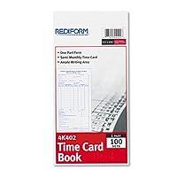 従業員時間カード、半月ごと、4–1/ 4x 8、100/パッド、1パッド、1パッド100シートとして販売