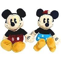 ディズニー ミッキー&ミニー ミニぬいぐるみ 2種ペアセット(座高15cm) ヴィンテージシリーズ ビーンズコレクション