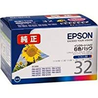 EPSON (純正インクカートリッジ 6色セット) IC6CL32 EPSON