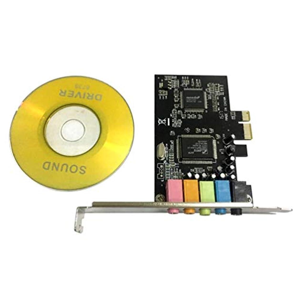 トレーニングフォーマット格差PCI-E PCI Express 6チャンネル5.1 CMI8738オーディオサウンドカードPCコンピュータ互換用Windows通常のサウンドカード拡張カード