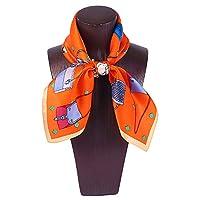 女性のネックシルクスカーフバンダナプリントサテンネッカチー全試合桑スクエアスカーフ53 * 53 cm (色 : 3, サイズ : 53*53CM)