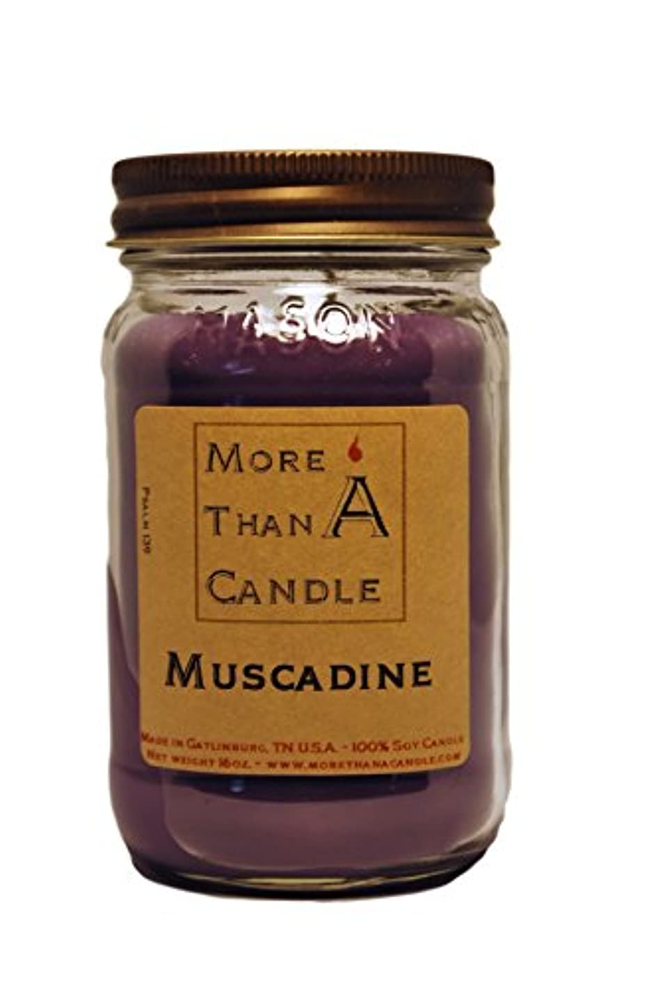 三角形遺跡More Than A Candle MCD16M 16 oz Mason Jar Soy Candle, Muscadine