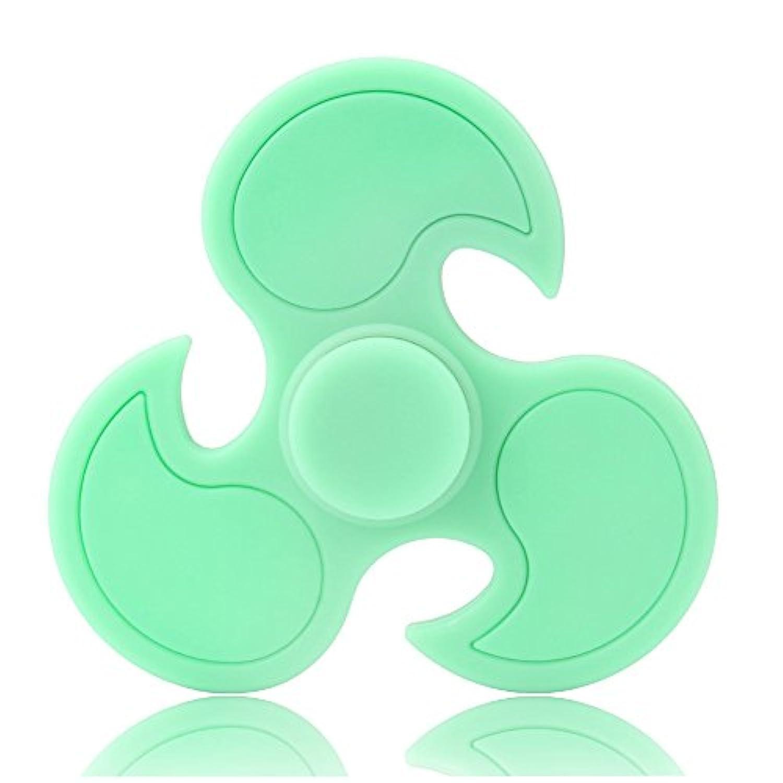 solidpinグローin theダークTri FidgetスピナーデスクAnti Stress指手スピナーSpinning Top EDC Sensoryおもちゃキューブギフトfor Autism ADHD子供大人用回転時間軸受Anxiety Reliefおもちゃ – グリーン